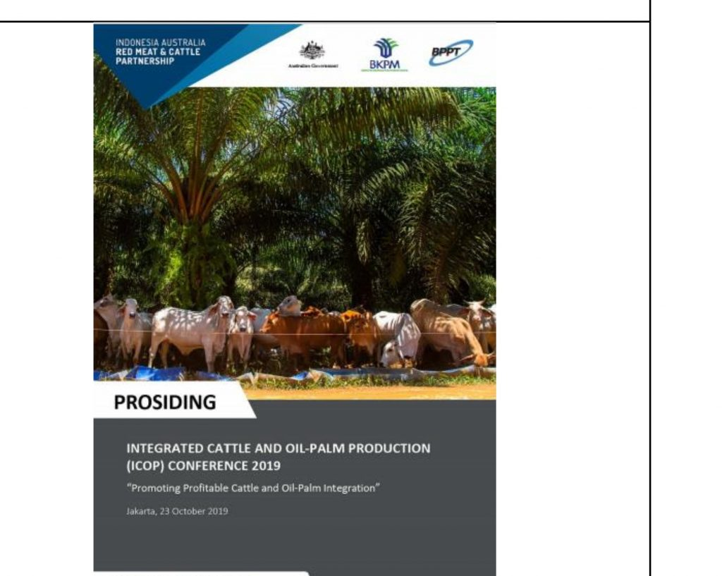 Prosiding: Integrated Cattle and Oil Palm production (ICOP) Conference 2019